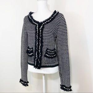 White House Black Market Pearl Sweater Jacket